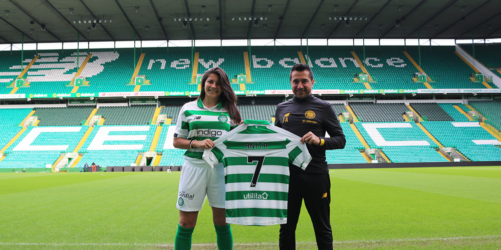 Celtic delighted to sign top young Spanish striker, Anita Marcos