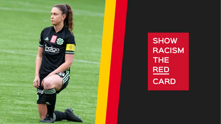 Celtic FC Women supports Show Racism the Red Card